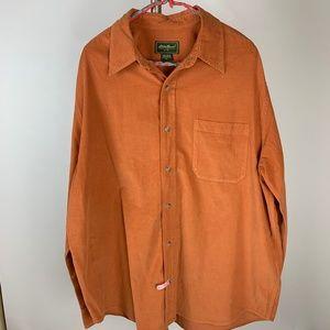 Eddie Bauer Men's Cotton Corduroy LS Shirt XL